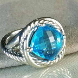 David Yurman Blue Topaz infinity 11mm ring